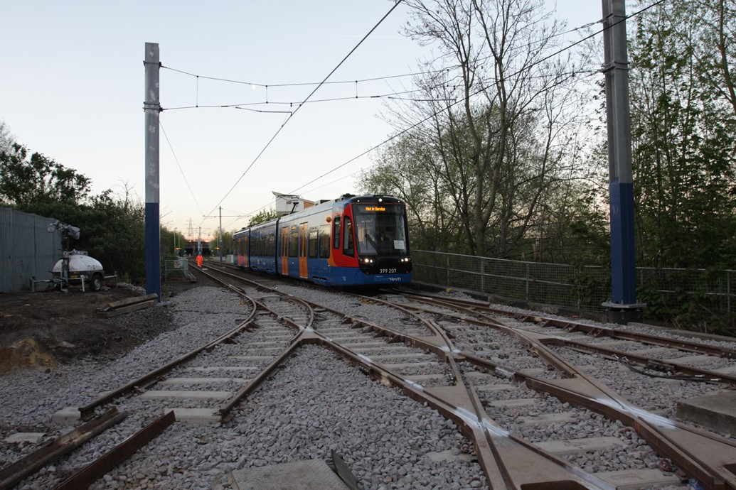 Easter track connection marks major Tram Train milestone: Network Rail carried out Easter work on the network to allow Tram Trains to run in the future 1