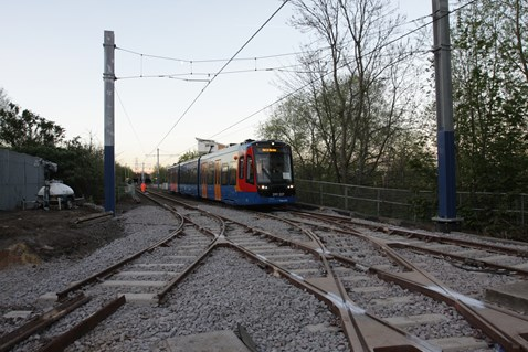 Network Rail carried out Easter work on the network to allow Tram Trains to run in the future 1