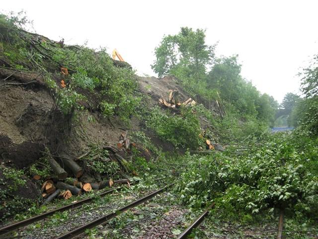 Bosty Lane landslip 1: Picture of damage caused by landslip at Bosty Lane, Aldridge