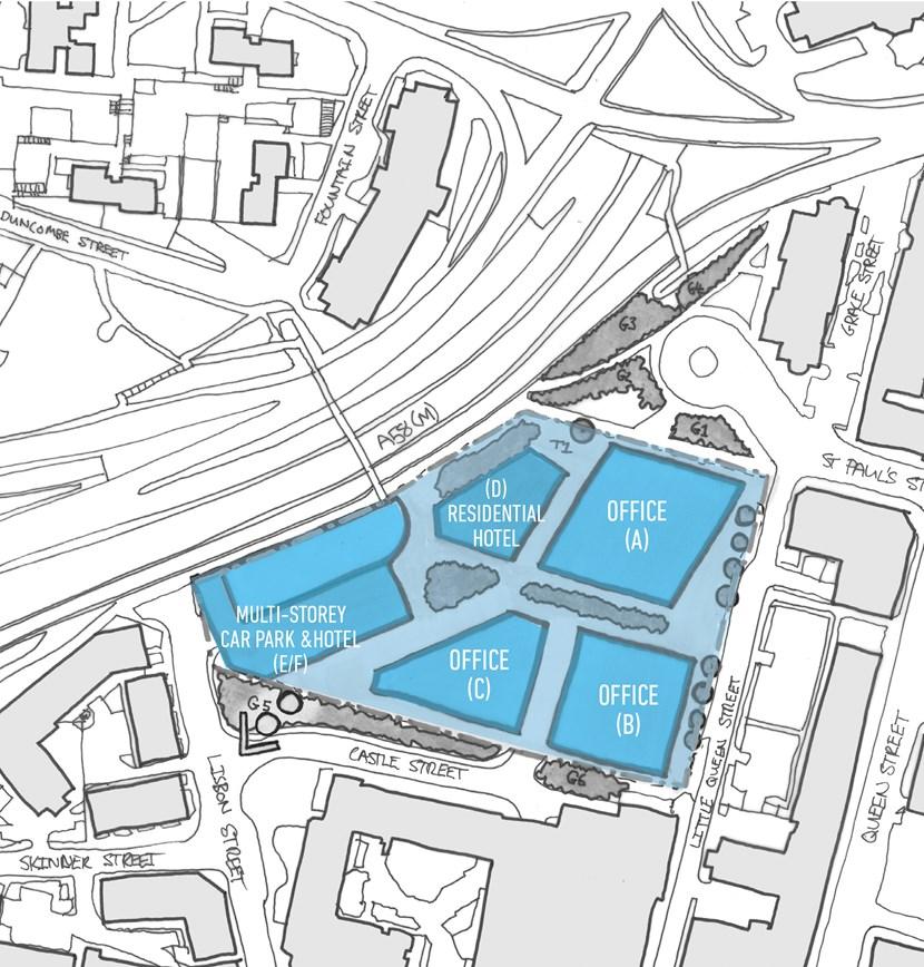 Leeds City Council seeks expressions of interest for Lisbon Street city centre development site: lisbonstreetplan2.jpg