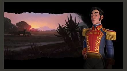 Civilization VI - New Frontier Pass - Maya & Gran Colombia Pack - Simon Bolivar Leader Art