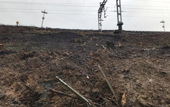 Hillmorton landslip damage January 2021