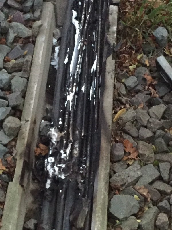 £30,000 reward offered for help catching railway arsonist: Cables damaged at Canley, near Coventry, after arson attack