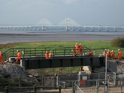 Engineers working on new Pill Bridge