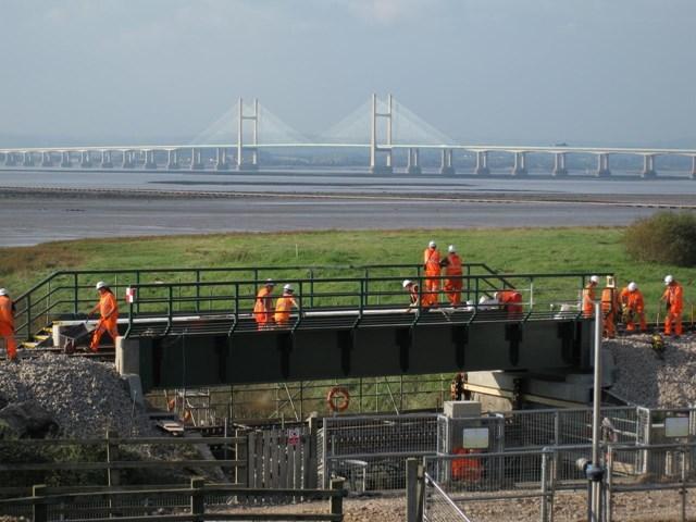 Engineers working on new Pill Bridge: Pill Bridge