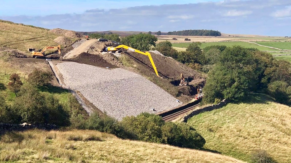 Moving slope stopped in its tracks to protect Settle-Carlisle railway line: Fothergill cutting work-3