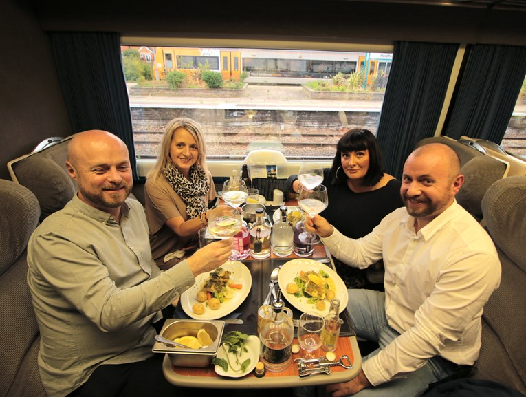 Arriva Trains has started offering gin made in Caerphilly — and hosted a gin tasting experience to celebrate: IMG 8601
