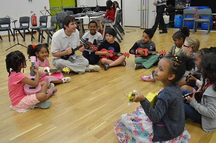 Leeds music centres open their doors to show that music is for all: musiccentresukulelekids.jpg