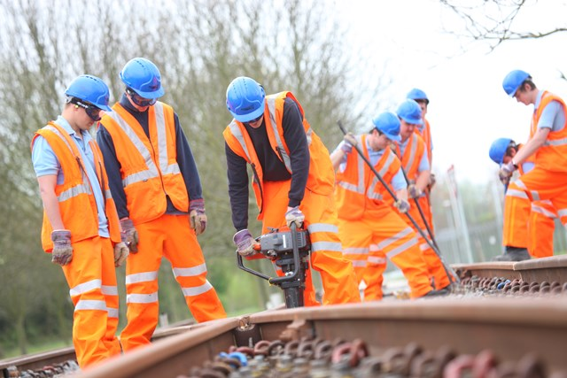 MORE APPRENTICES GET ON TRACK FOR SUCCESS IN WOKING AND GUILDFORD: Apprentices on the learning track 001