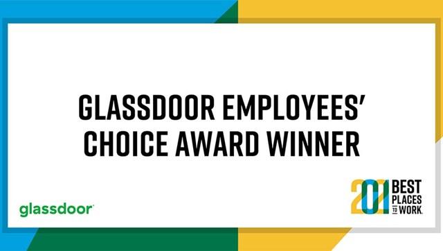 Glassdoor employee's choice award