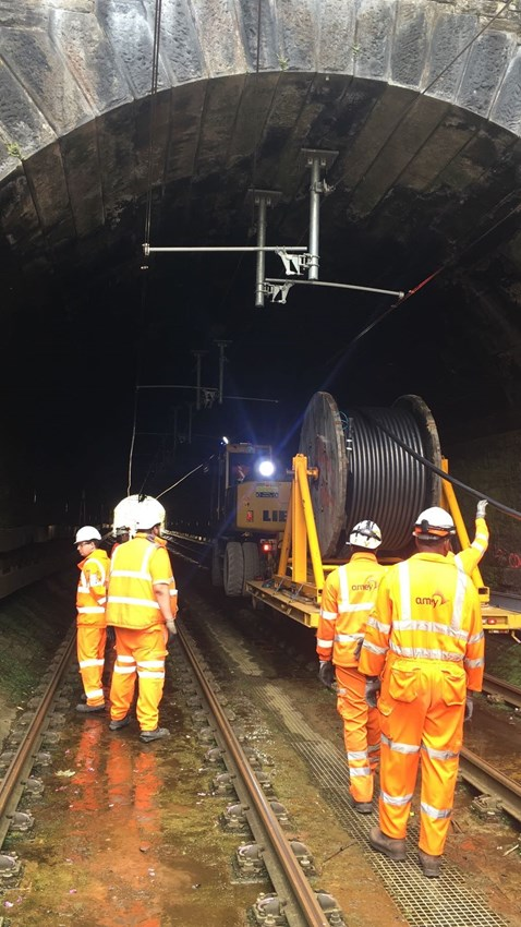 Chorley Tunnel cable pulling