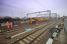 New overhead equipment at Blackpool North