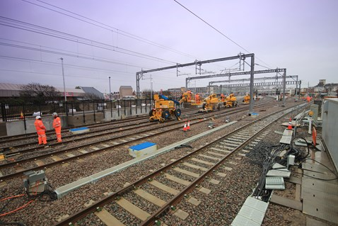 New overhead equipment at Blackpool North