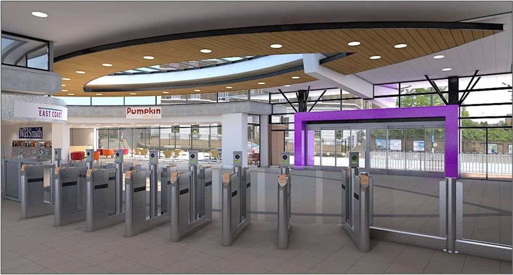 Revamp: The view looking towards the ticket gates at the revamped Peterborough station.