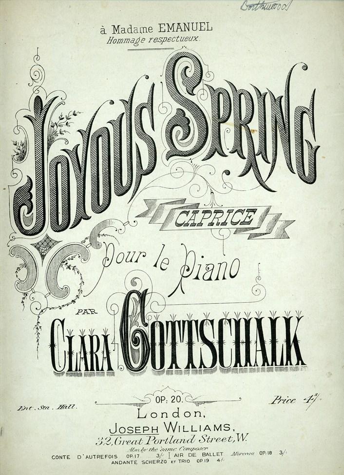 Clara Gottschalk - Joyous Spring caprice 1875