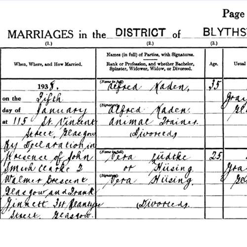 Kaden-Husing marriage