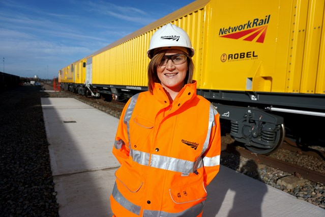 Network Rail workers put passengers first this Christmas as they carry out major project on railway in Northamptonshire: Network Rail workers put passengers first this Christmas as they carry out major project on railway in Wellingborough. Pictured Katie Tingle