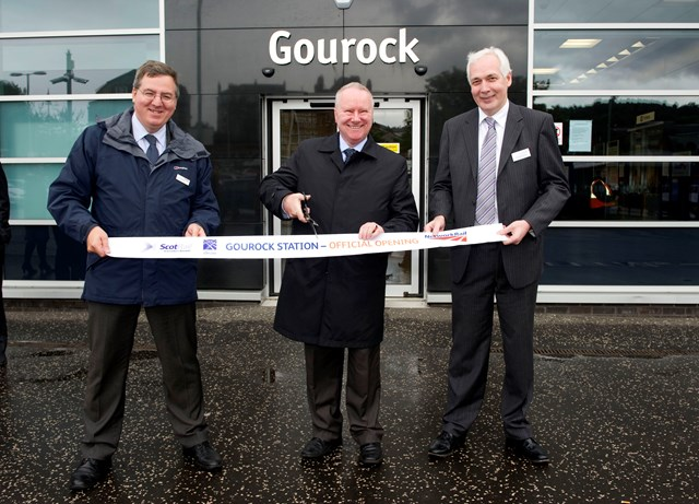 Gourock Station official opening