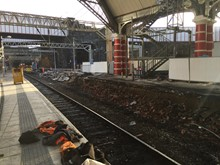 Work continues at Liverpool Lime Street as part of the Great North Rail Project
