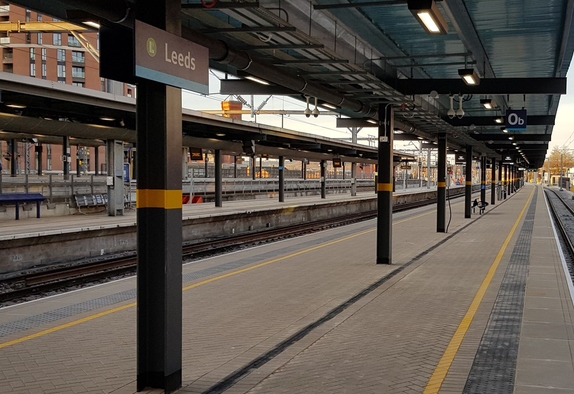 Passengers urged to plan ahead as Network Rail prepares to improve track layout at Leeds station over late May Bank Holiday: Leeds station