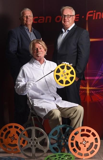 iMetaFilm - (L to R) David Knox, managing director of iMetaFilm, Michael...