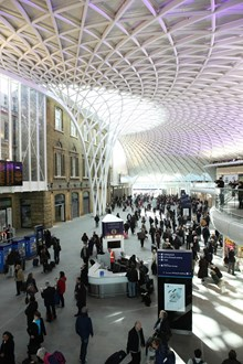 King's Cross western concourse: Passengers using the new western concourse at King's Cross station