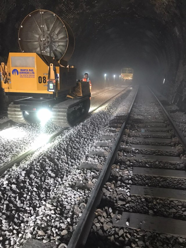 Upholland tunnel work to renew 1km of track