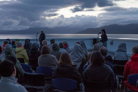 Atlas Arts- Ragadawn Caroline Bergvall installation shot atSabhal Mòr Ostaig Skye 2018