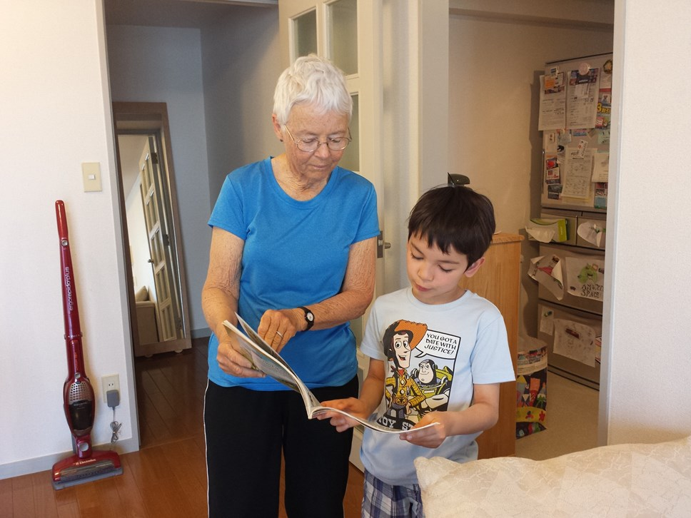 Extended households will enable families to be re-united: grandma grandson childcare COVID