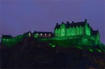 Edinburgh Castle to go green for St Patrick's Day: Edinburgh Castle (Green)