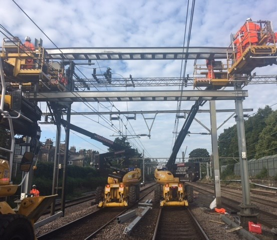 Vital improvements for Norwich to London rail passengers to take place at weekends and Christmas: Brentwood wiring train