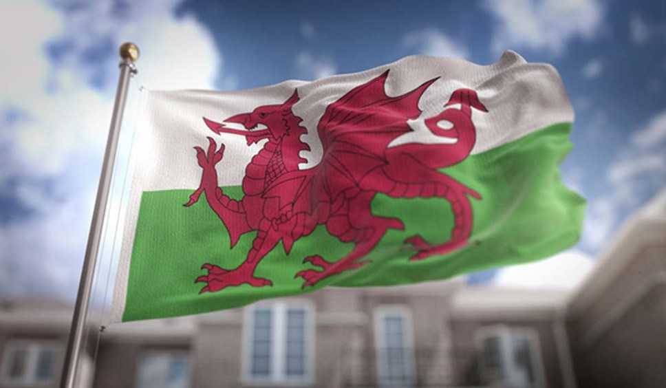 Visit Wales. Later: People urged to avoid all non-essential travel: welsh flag-4