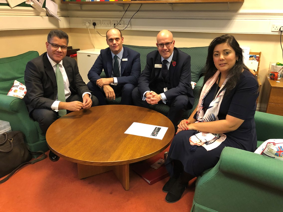Alok Sharma MP welcomes development work starting to improve accessibility for Tilehurst station: Network Rail Meeting - Tilehurst Station 2 (002)
