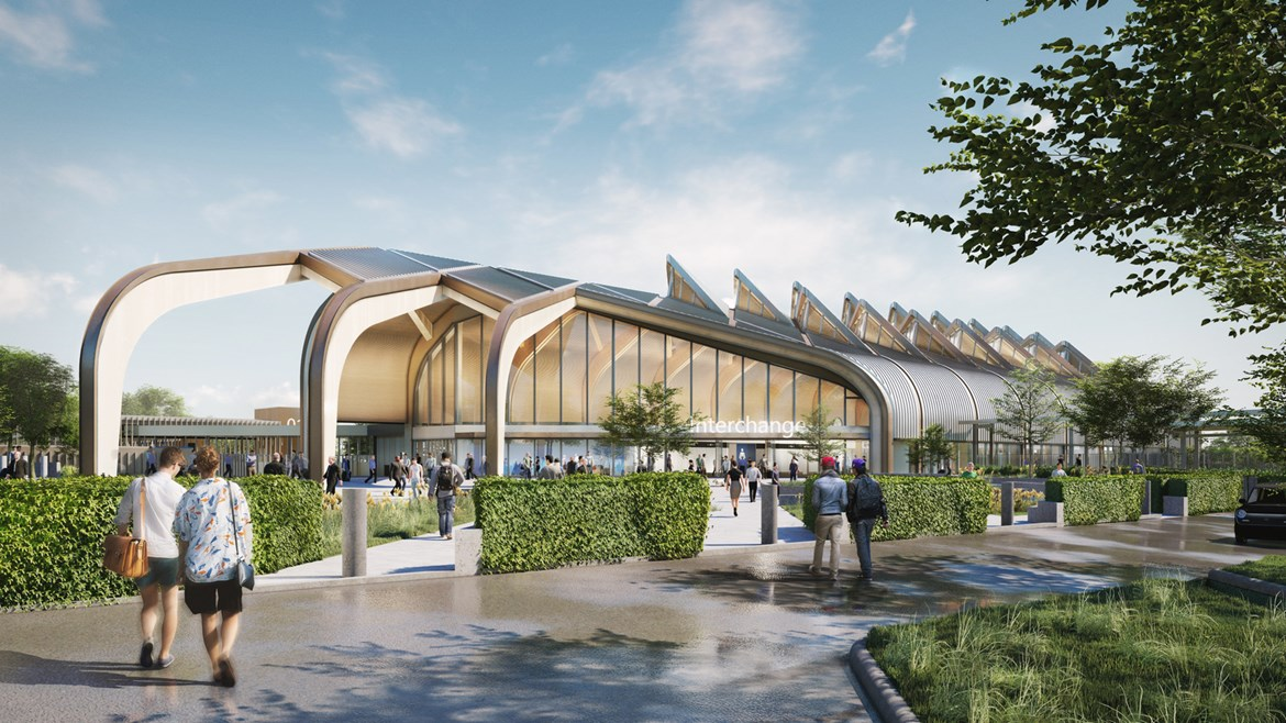 HS2's Interchange Station wins sustainability gold award: Interchange Station Exterior April 2020