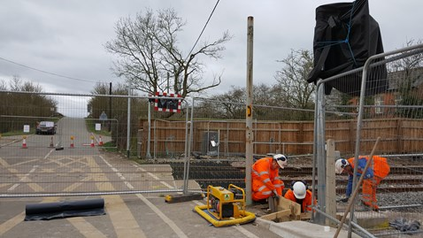Broad Oak level crossing will reopen on Friday 24 March