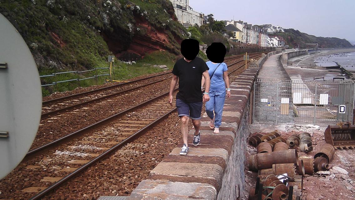 Spike in people using railway line as walking route in Dawlish: Dawlish trespass 1