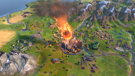 Civilization VI - New Frontier Pass - Maya & Gran Colombia Pack - Apocalypse Mode Comet Impact