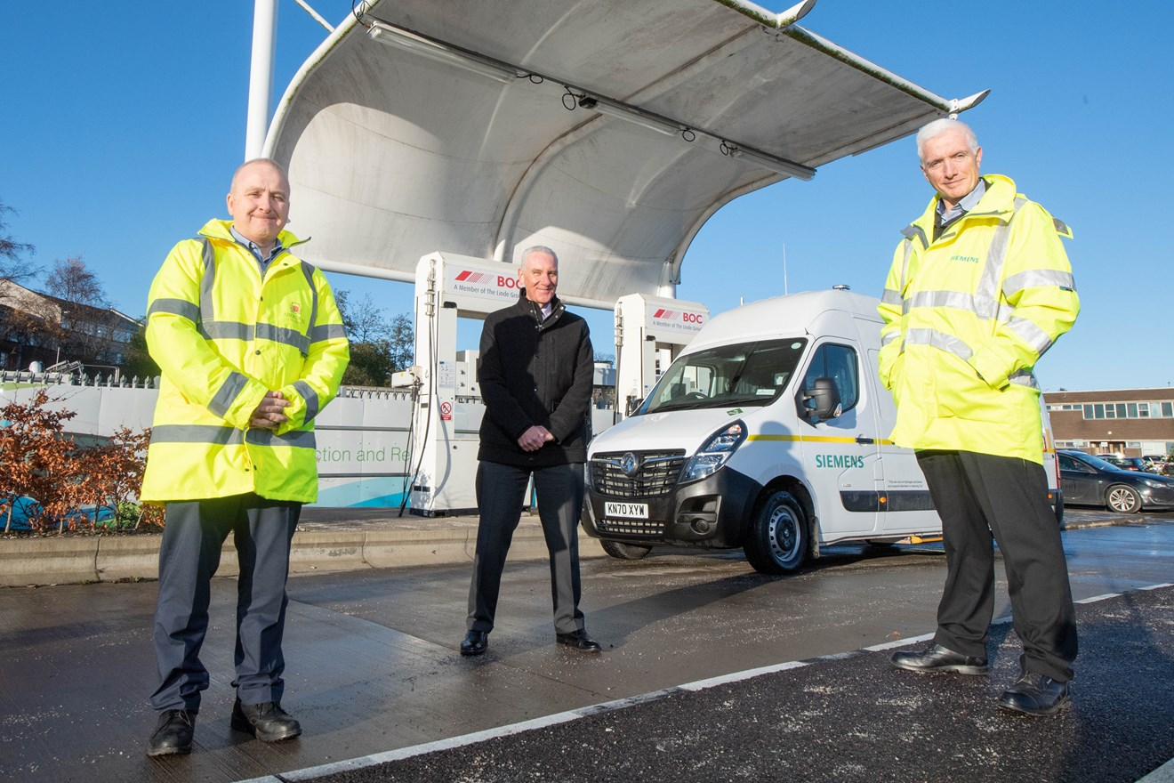 Siemens Mobility launches first hydrogen-powered van in partnership with Aberdeen City Council: 20201203 Siemens Hydrogen 016