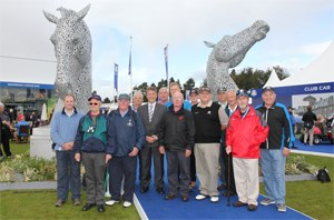 Keith Brown meet veterans at the Ryder Cup