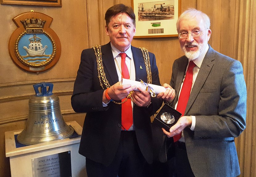 Leeds Award presented to retired Director of Leeds Civic Trust, Dr Kevin Grady: kevingrady1.jpg