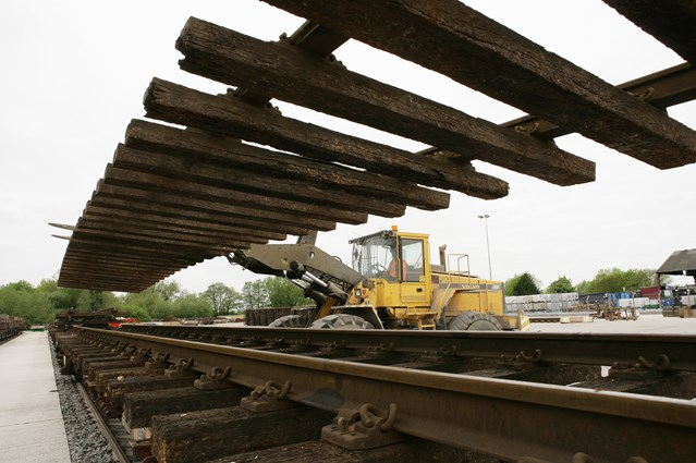 NATION'S RAIL GREEN MOVEMENT BEGINS IN WESTBURY: Rails for recycling