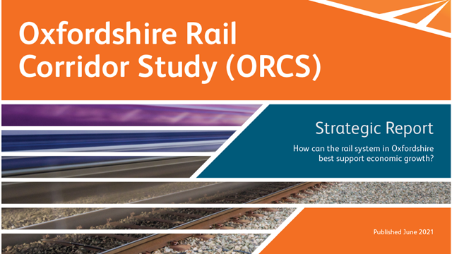Future of Oxfordshire rail network mapped out in new study: ORCS report logo web