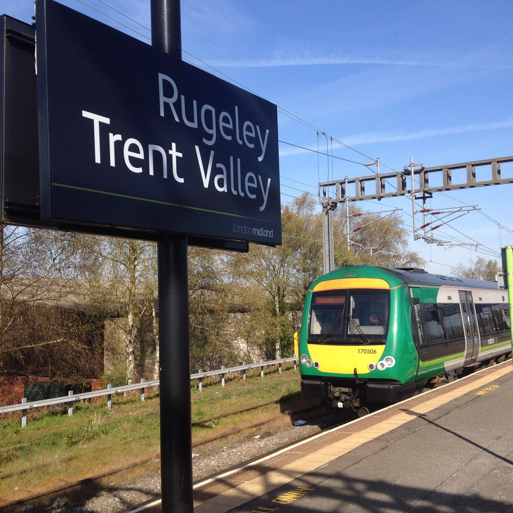 Railway between Rugeley Trent Valley and Walsall reopens on time: Rugeley Trent Valley - Chase line electrification