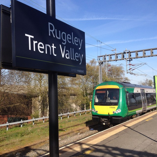 Upgrade means Tame Bridge Parkway to Rugeley Trent Valley line to close for three Sundays: Rugeley Trent Valley - Chase line electrification