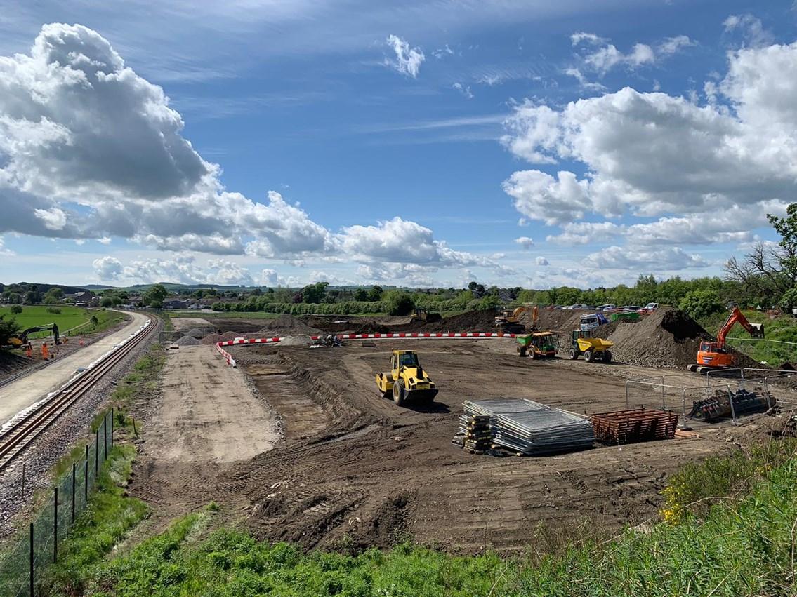 Kintore station site prep works