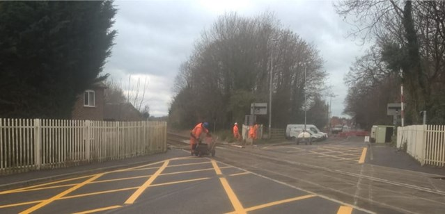 Residents and passengers thanked as level crossing renewal completed in Nantwich: Newcastle Road level crossing-4