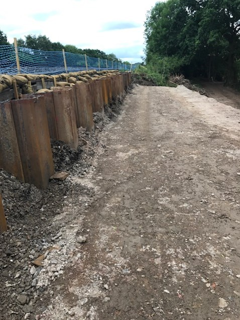 Dean Farm foot crossing preparatory work