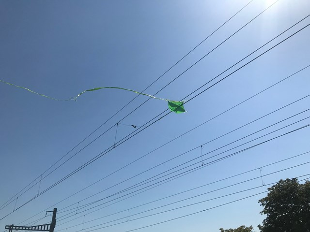 Overhead electric wires warning after kite flyers risk their lives: Kite compromising OLE