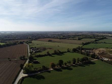 Garden Village site aerial
