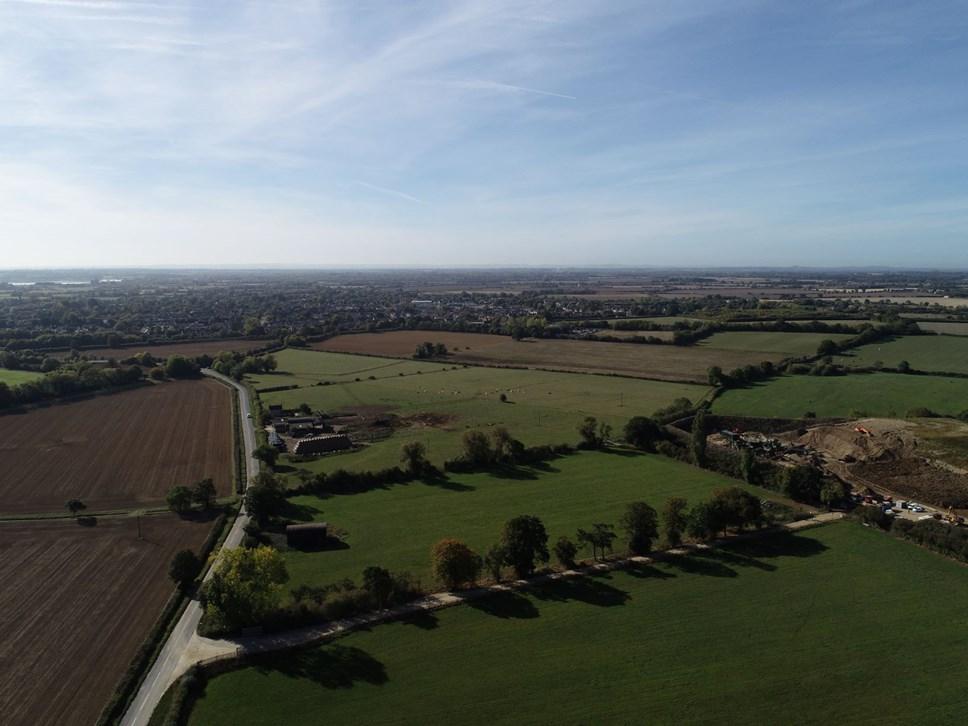 Key developments lined up for garden village planning process: Garden Village site aerial